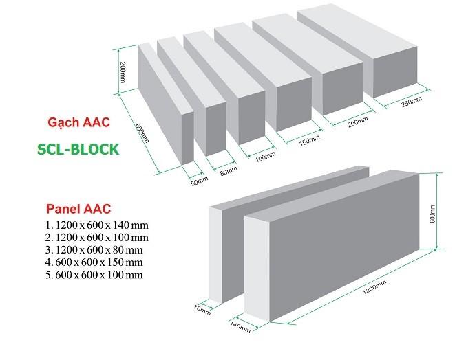 bê tông khí, gạch AAC, gạch không nung